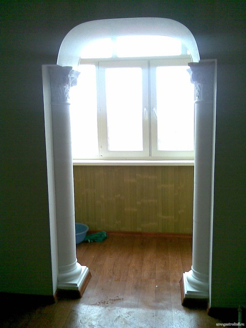 Изготовление арки из гипсокартона на балконе своими руками -.