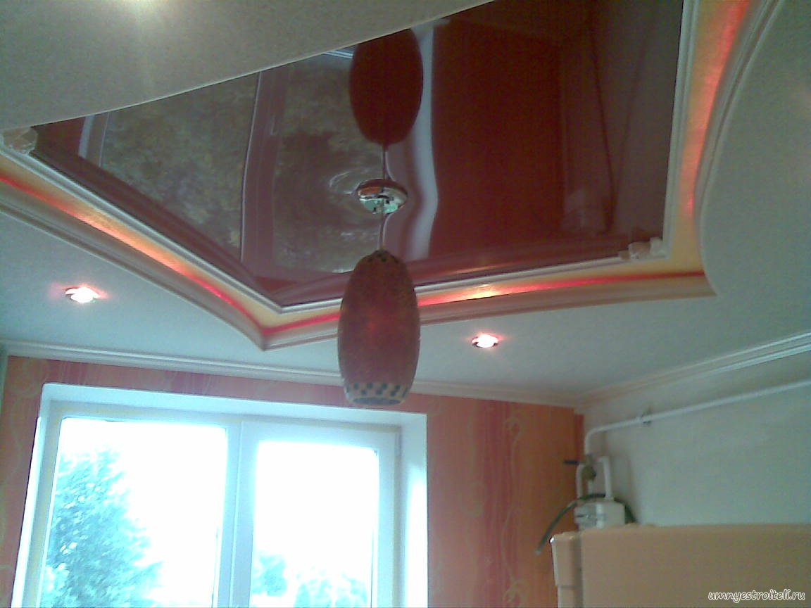 Ярусные потолки из гипсокартона фото