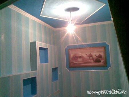 Фото одноярусного потолка в прихожей (коридоре)