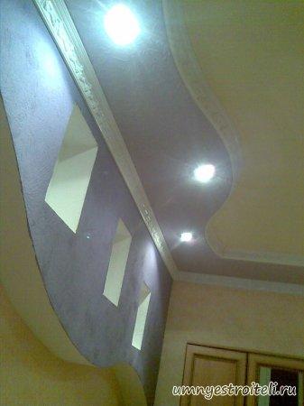 Фото потолка из гипсокартона в небольшой спальне