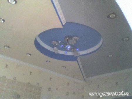 Трёх ярусный потолок на кухне