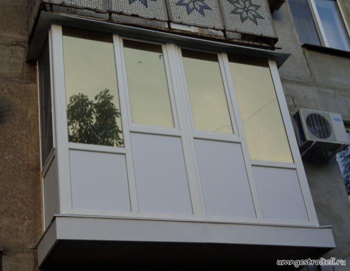 Отделка балкона сэндвич панелями..
